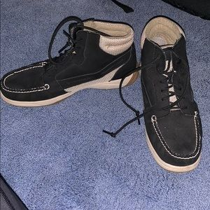 High top sperry boat shoes